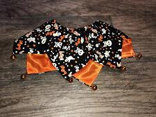 Dog Halloween Sz Medium Large Bells Neckwear Pumpkin Boo Collar Stretchy