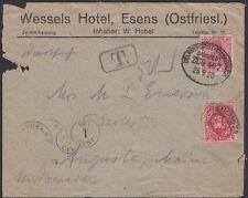 GERMANY, 1920. Due Cover Mi86I,  (4), Delmenhorst-Osnabruck, Maine