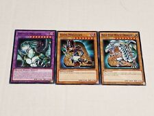 Yugioh Amulet Dragon Fusion Set Dark Magician Blue-Eyes White Dragon + Free Card