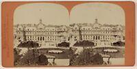 Il Havre Hotel De Ville Francia Foto Stereo PL53L3n56 Vintage Albumina c1870