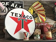 Antique Vintage Old Style Texaco Sign 24""