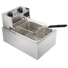 5 Star Chef Deep Fryer Commercial Electric Stainless Steel Cooker Single Basket