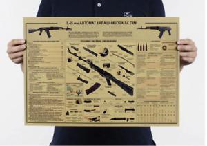 AK 74M KALASHNIKOV RETRO PRINT. IDEAL FOR DEN/SHED/MAN CAVE/SHE SHED.