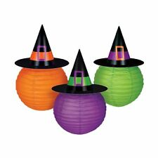 Halloween Multicoloured Witches Hat Lanterns Party Decoration Garland Harry Kids