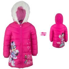 Disney Minnie Maus Wintermantel Mantel Winter Jacke gefüttert Pink