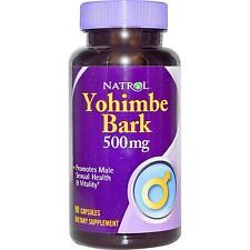 Natrol YOHIMBE BARK 500mg Sexual Health Energy Libido Stamina 90 Capsules
