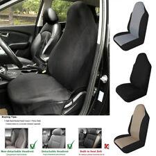 Car Single Front Seat Cover Cushion Classic Black Simple Design Nylon Mesh Cloth