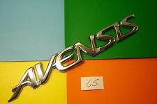 1997>2002 TOYOTA AVENSIS D-4D,VVT-i,CHROME PLASTIC REAR BADGE EMBLEM.