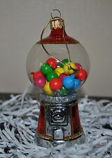 NEW SUR la TABLE  GUMBALL MAKER MACHINE Glass Blown Ornament Xmas Poland