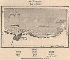 Fortaleza (Ceara) . Brazil 1885 old antique vintage map plan chart