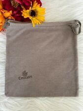 "Emirates Airlines Drawstring Bag Toiletries Travel Accessories Brown 11""x10.5"""