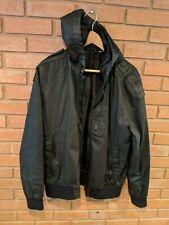 H&M Hooded Full Zip Jacket Coat Black Mens Size Large (L)