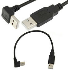 USB 2.0 A Male down angle to USB A male Extension Cable F Radiator Hard Disk Car