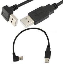Hacia Abajo Ángulo Usb 2.0 A Macho a USB cable de extensión macho a F Radiador Coche De Disco Duro