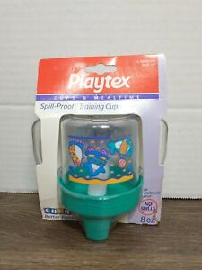 NEW Vintage Playtex Cups And Mealtime Spill Proof Training Cup 1995 8oz Animals