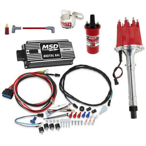 MSD 85551 Chevy V8 Billet Distributor Ignition Kit, 64253/31229