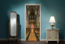Door Mural Church Service View Wall Stickers Decal Wallpaper 286