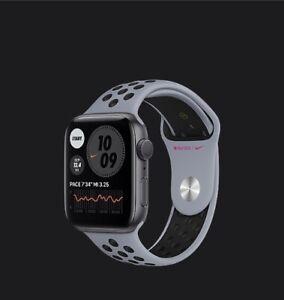 Apple Watch Nike Series 6 GPS 44mm Space Gray Aluminum Case Obsi Mist Sport Band