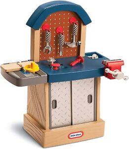 Fun Pretend Play Kid-Size Workbench Playset w/ 11 Accessories