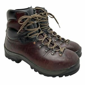 Scarpa 66002 SL M3 Leather Hiking Boots EUR 44 Bordeaux & Black Made In Italy