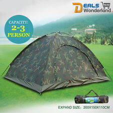 Camp Outdoor Camping Waterproof 2-3 Person Folding Tent Camouflage Hiking