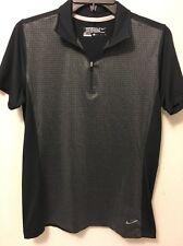 Nike Golf Tour Performance Womens Dri Fit Golf Polo Gray Halpf Zip Short Sleeve