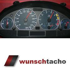 Tachoscheibe für Tacho BMW E46 Benziner *Black Power*  280 kmh