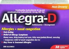 Allegra-D Allergy Nasal Congestion box of 30 {Imported from Canada}