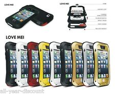 New LOVE MEI Shock/Water/Dust proof Alu Metal Glass case cover ( UK STOCK)