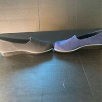 SAS Womens Lot Of 2 Loafer Shoes Blue Gray Wedge Slip On Comfort Footbed 10.5 N