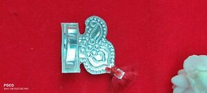 Indian Traditional Sterling Silver 925 Mukut For Lord Krishna Pure Silver-M6
