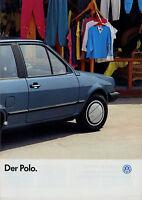 Prospekt VW Polo 1/87 Autoprospekt 1987 Broschüre Auto PKWs brochure Volkswagen