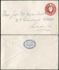 ES43 KGV 1d Scarlet Envelope Stamp 30 Used