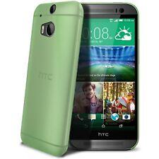 Coque Housse Etui Translucide Ultra Fine 0.3mm Pour HTC One 2 (M8) Verte