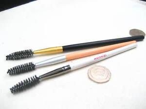 Durable eyebrow spoolie eyebrow brush wooden hand Eyelash Brushes Wands