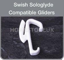 SWISH SOLO GLIDE CURTAIN HOOK TO FIT RAIL DRAPE SLIDER HOOKS PACK OF 10 - CW63P