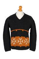 Vintage Icelandic Jumper Classic Sweater Casual Winter UNISEX S/M Multi - IL1542