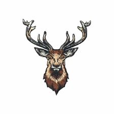Brown Deer (Iron On) Embroidery Applique Patch Sew Iron Badge