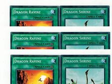 3x Dragon Ravine+ 3x Dragon Shrine  SDBE-en019-en021 Set 1st Mint YUGIOH
