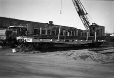 SLSF 40' FLat Car #38600 May 70 Springfield Mo. ORIGINAL PHOTO NEGATIVE-Railroad