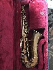 Vintage YORK Tenor Saxophone RARE one very early 1900? Babbitt Reed!