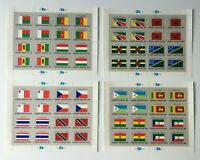 CMAP7) United Nations New York UNO Flags Series Stamp Sheetlets MUH