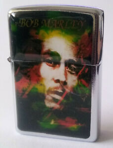 "ZippO´n Metall Benzin Sturm Feuerzeug ~ Bob Marley ""21 Century Edition""   (5)"