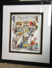 """Charles Fazzino """"I Tawt I Taw a Cavity"""" 3D  50/100DX Dental Art"""