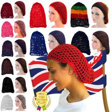 UK Elasticated Sturdy Heavy Duty Traditional Slumber Sleep-in Hair Net Black