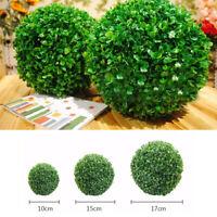 Artificial Hanging Topiary Buxus Balls Faux Boxwood Plant  Garden Patio  Decor