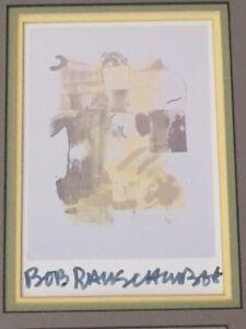 """ROBERT RAUSCHENBERG HAND SIGNED OFFSET LITHOGRAPH OF """"STUNT MAN II"""" 1962"""
