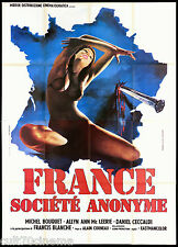FRANCE SOCIÉTÉ ANONYME MANIFESTO FILM MICHEL BOUQUET SCI-FI 1973 MOVIE POSTER 4F