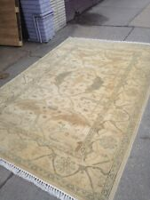 Oriental area rug Light oushak ushak hand made/ knotted 6' X 9' elegant L. Gold