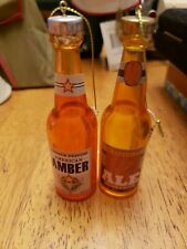 Midwest Ale & Amber Bottle Ornaments 4 inch Set Of 2